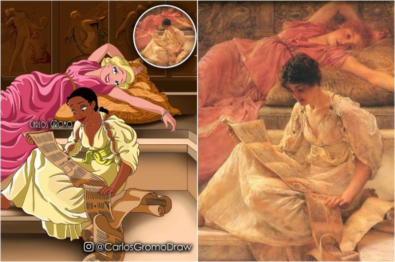 Disney As Famous Historical Paintings