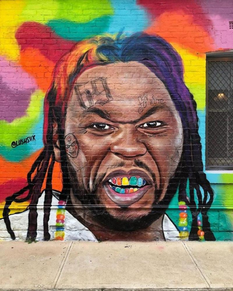 Artist Behind Hilarious 50 Cent Murals Got Attacked